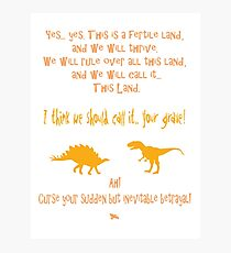 curse your sudden but inevitable betrayal, firefly, orange Photographic Print
