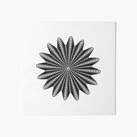 Trippy Decorative Wave Spiral Pattern Art Board Print