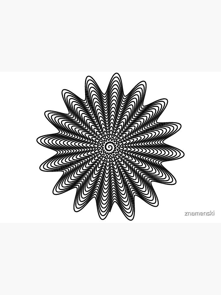 Trippy Decorative Wave Spiral Pattern by znamenski
