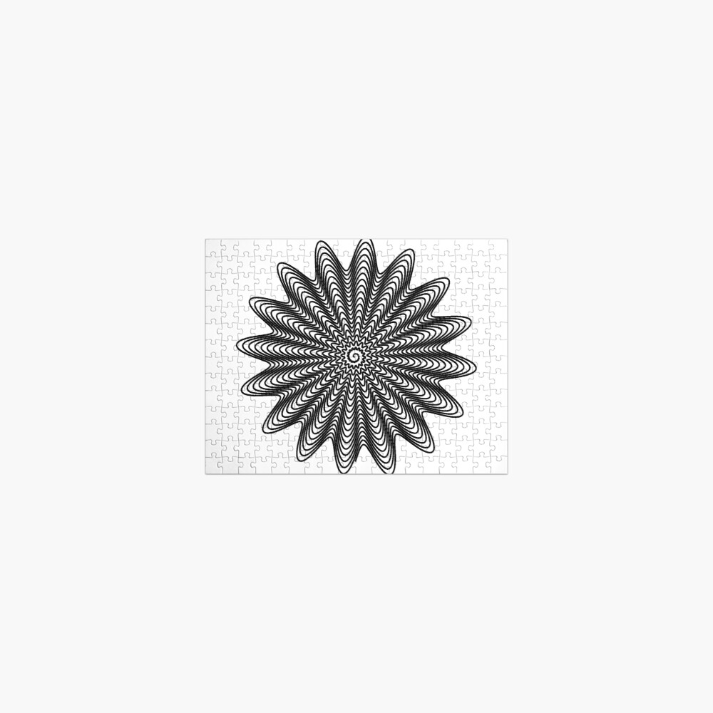 Trippy Decorative Wave Spiral Pattern Jigsaw Puzzle