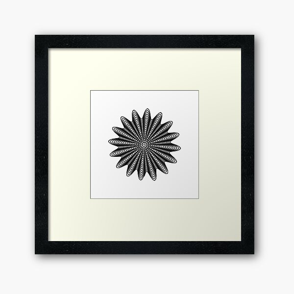 Trippy Decorative Wave Spiral Pattern Framed Art Print
