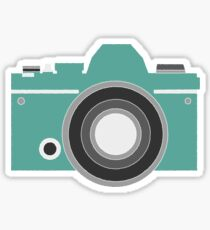 Turquoise Camera Sticker