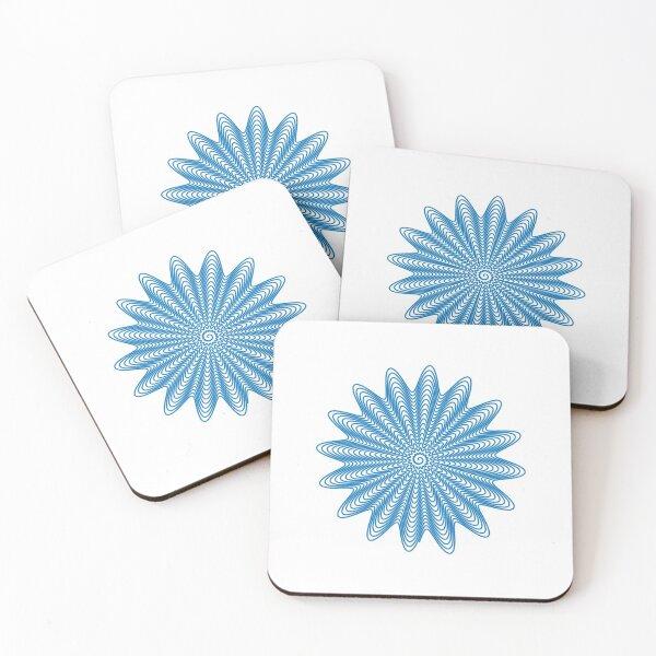 Trippy Decorative Wave Spiral Pattern Coasters (Set of 4)