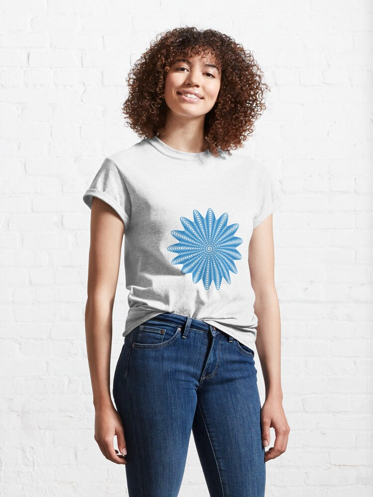 Alternate view of Trippy Decorative Wave Spiral Pattern Classic T-Shirt