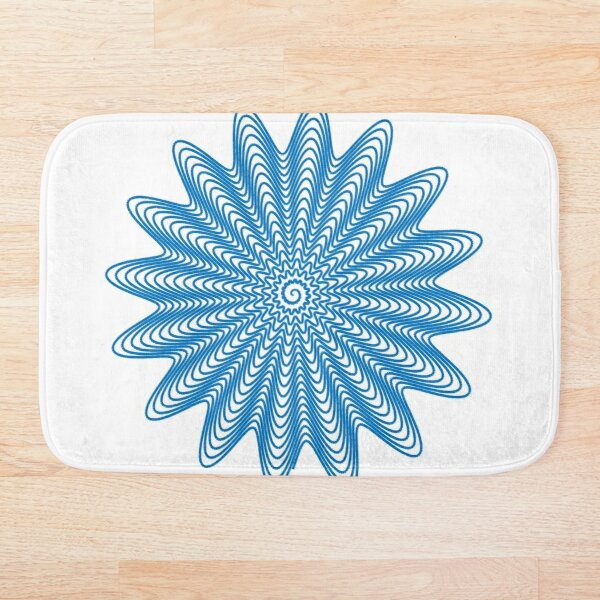 Trippy Decorative Wave Spiral Pattern Bath Mat
