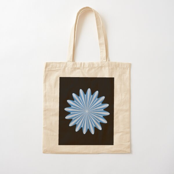Trippy Decorative Wave Spiral Pattern Cotton Tote Bag