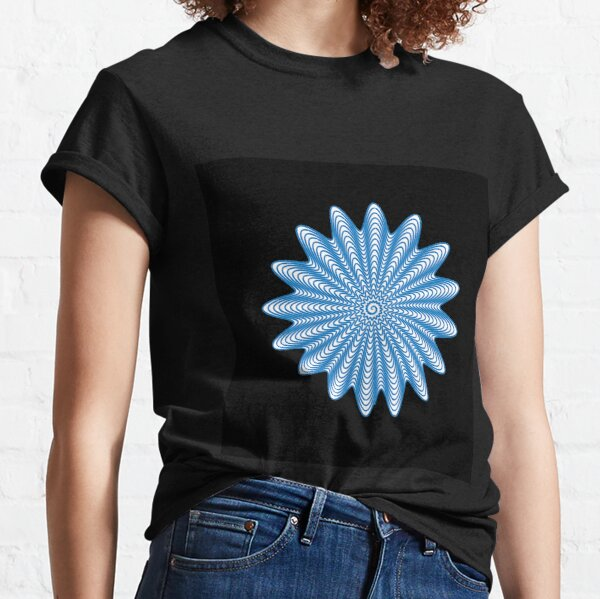 Trippy Decorative Wave Spiral Pattern Classic T-Shirt