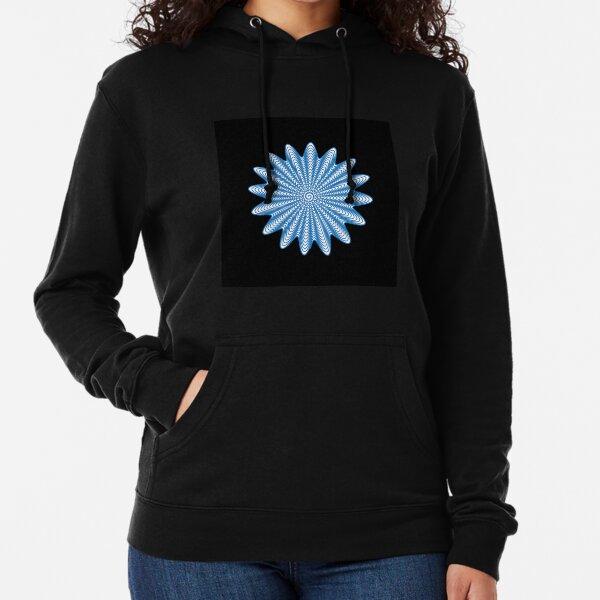 Trippy Decorative Wave Spiral Pattern Lightweight Hoodie