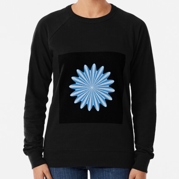 Trippy Decorative Wave Spiral Pattern Lightweight Sweatshirt