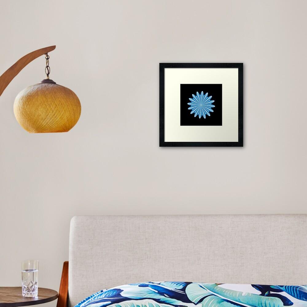 Trippy Decorative Wave Spiral Pattern Framed Art Print