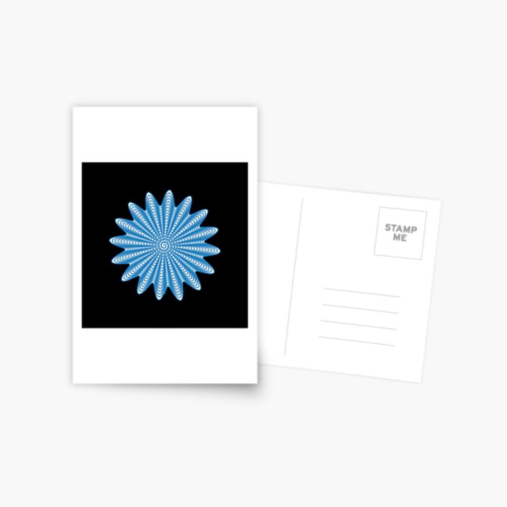 Trippy Decorative Wave Spiral Pattern Postcard