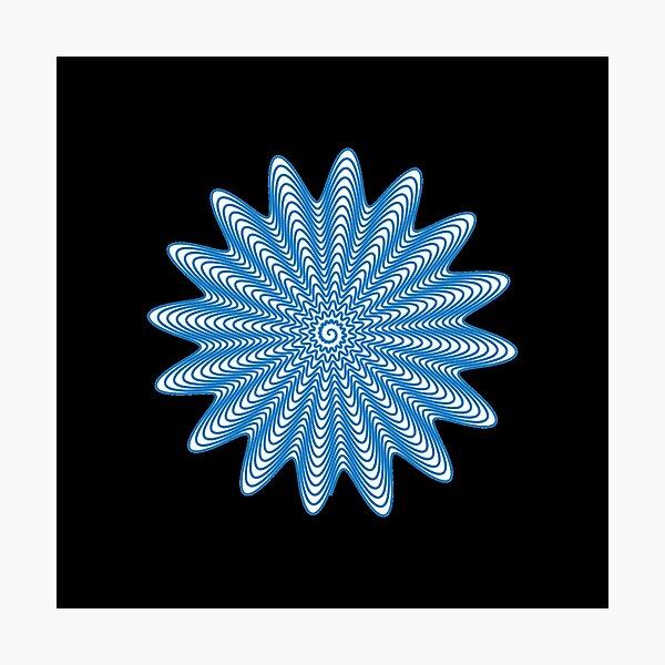 Trippy Decorative Wave Spiral Pattern Photographic Print