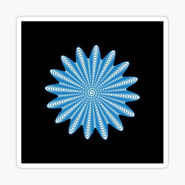 Trippy Decorative Wave Spiral Pattern Sticker