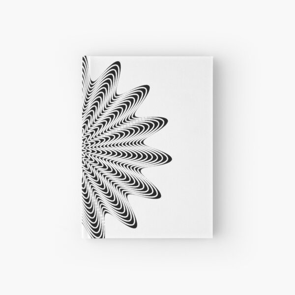 Trippy Decorative Wave Spiral Pattern Hardcover Journal
