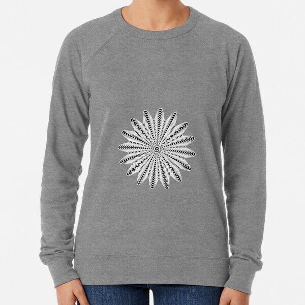 Trippy Decorative Wave Spiral Pattern Lightweight Sweatshirt