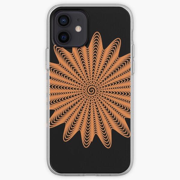Trippy Decorative Wave Spiral Pattern iPhone Soft Case