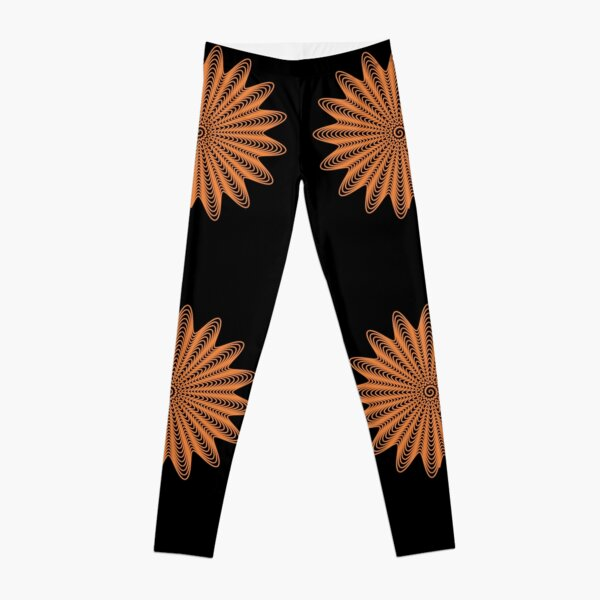 Trippy Decorative Wave Spiral Pattern Leggings