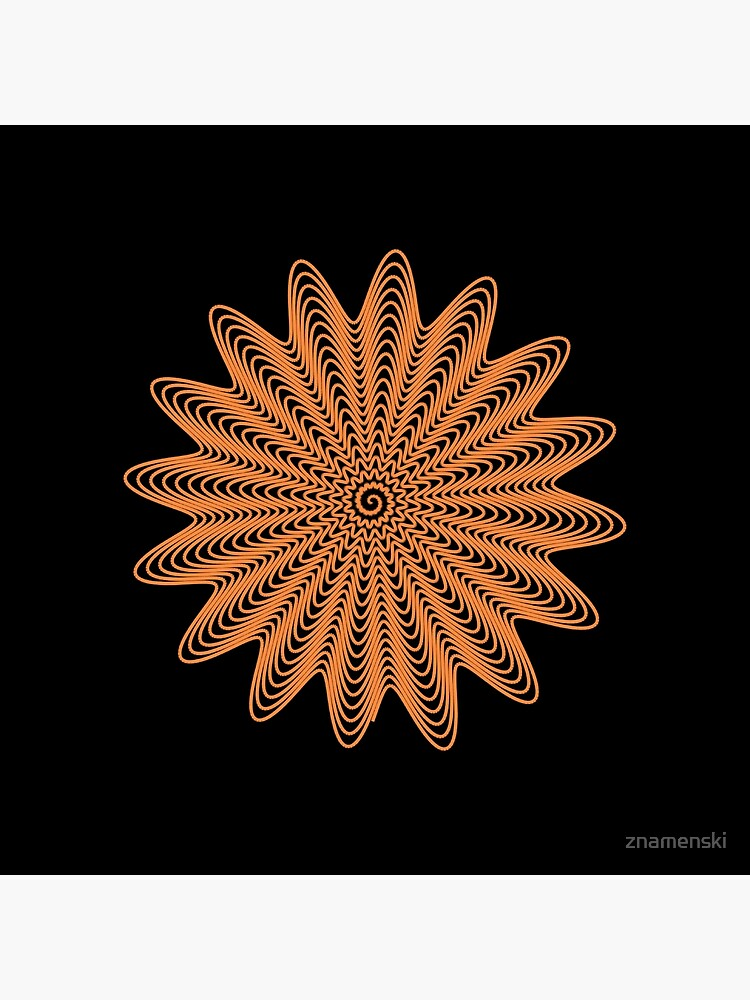 Trippy Decorative Wave Spiral Pattern by znamenski