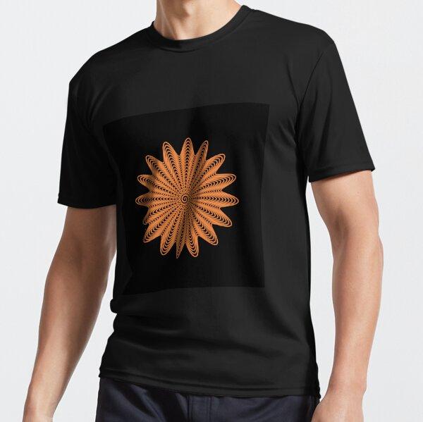 Trippy Decorative Wave Spiral Pattern Active T-Shirt