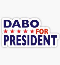 Dabo For President Sticker