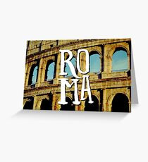 Roma Colosseum Italy Architecture Wanderlust Europe Greeting Card