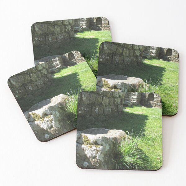 M.I. #114  ☼  Ground Rock Perspective (Hadrian's Wall) Coasters (Set of 4)