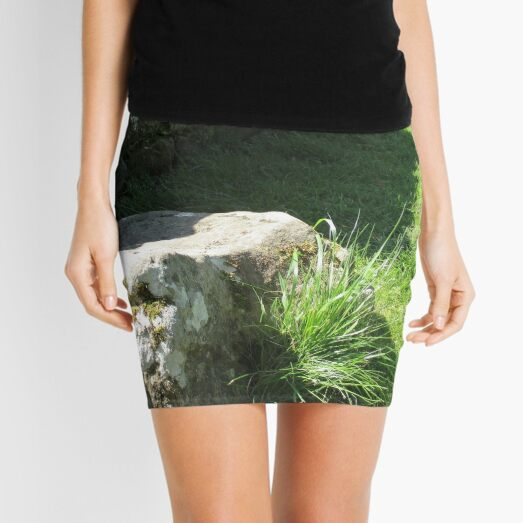 M.I. #114  ☼  Ground Rock Perspective (Hadrian's Wall) Mini Skirt