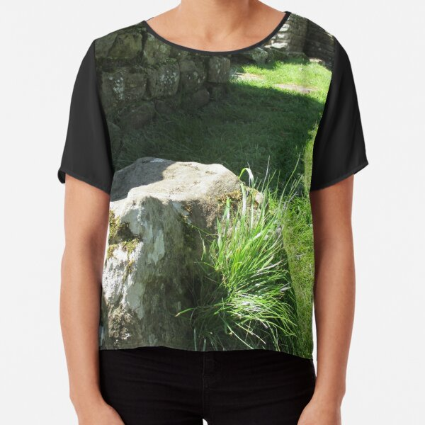 M.I. #114 |☼| Ground Rock Perspective (Hadrian's Wall) Chiffon Top