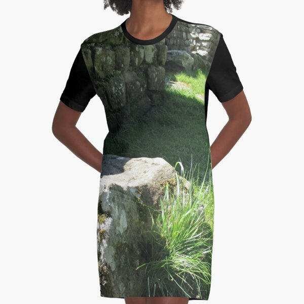 M.I. #114 |☼| Ground Rock Perspective (Hadrian's Wall) Graphic T-Shirt Dress