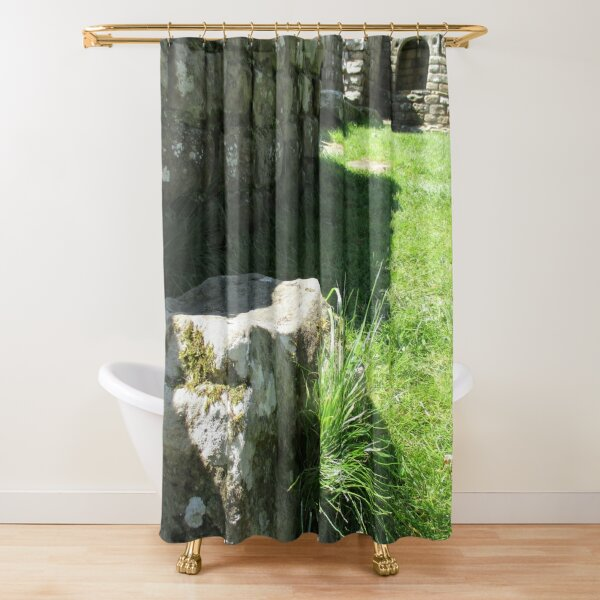 M.I. #114  ☼  Ground Rock Perspective (Hadrian's Wall) Shower Curtain