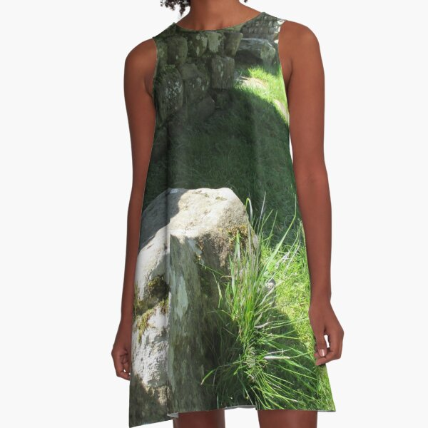 M.I. #114  ☼  Ground Rock Perspective (Hadrian's Wall) A-Line Dress