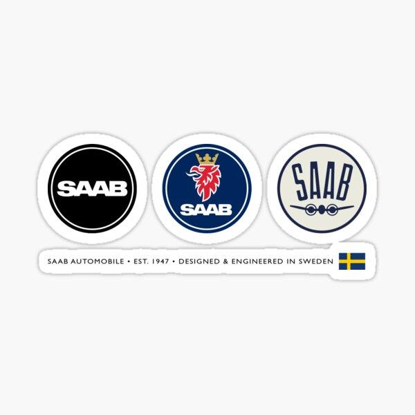 SAAB AUTOMOBILE • EST. 1947 • DESIGNED & ENGINEERED IN SWEDEN Sticker