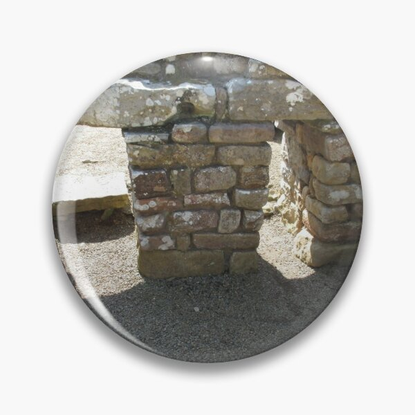 Merch #115 -- Rocks And Bricks - Shot 14 (Hadrian's Wall) Pin