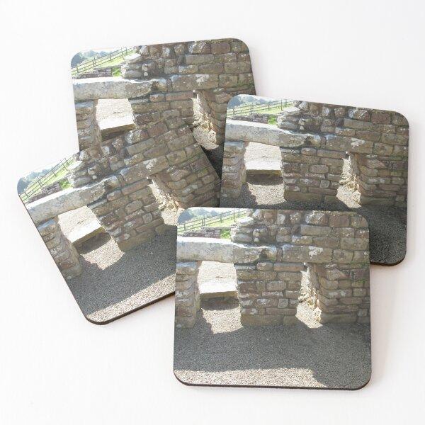 M.I. #115  ☼  Rocks And Bricks - Shot 14 (Hadrian's Wall) Coasters (Set of 4)