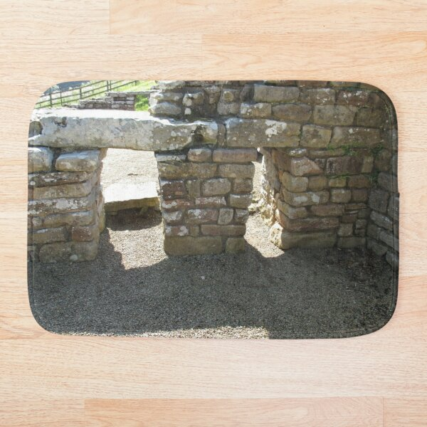 M.I. #115 |☼| Rocks And Bricks - Shot 14 (Hadrian's Wall) Bath Mat