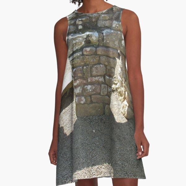 M.I. #115  ☼  Rocks And Bricks - Shot 14 (Hadrian's Wall) A-Line Dress