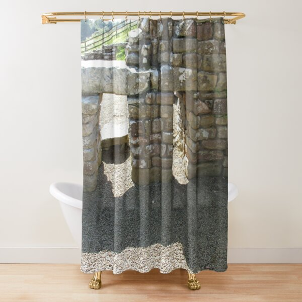 M.I. #115  ☼  Rocks And Bricks - Shot 14 (Hadrian's Wall) Shower Curtain