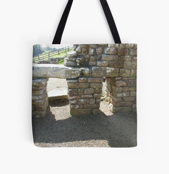 M.I. #115 |☼| Rocks And Bricks - Shot 14 (Hadrian's Wall) All Over Print Tote Bag