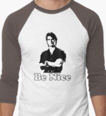 Be Nice Men's Baseball ¾ T-Shirt