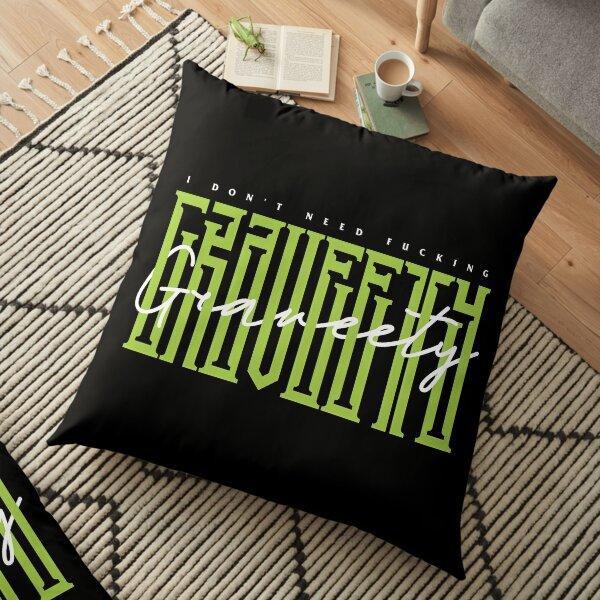 Graveety Typography Floor Pillow