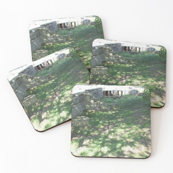 M.I. #116  ☼  Speckle Shadows (Hadrian's Wall) Coasters (Set of 4)