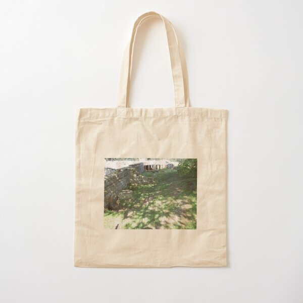 M.I. #116 |☼| Speckle Shadows (Hadrian's Wall) Cotton Tote Bag