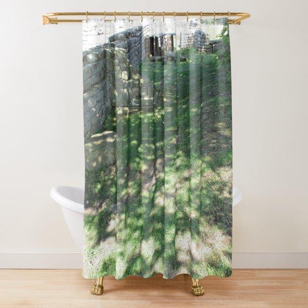 M.I. #116  ☼  Speckle Shadows (Hadrian's Wall) Shower Curtain