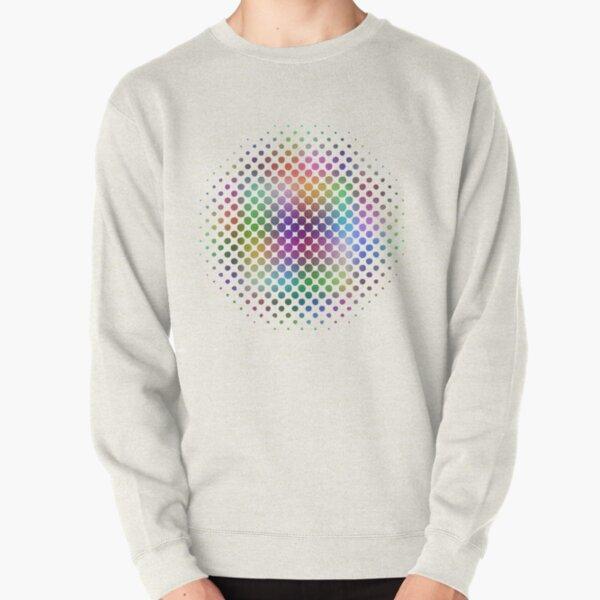 Radial Dot Gradient Pullover Sweatshirt