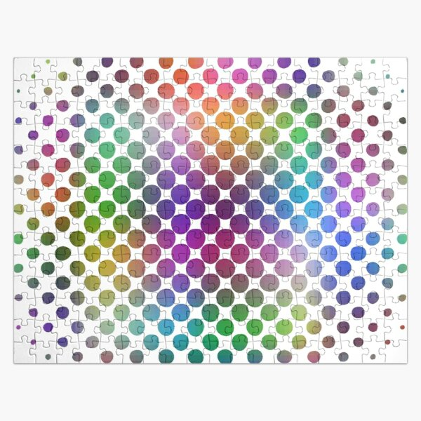 Radial Dot Gradient Jigsaw Puzzle