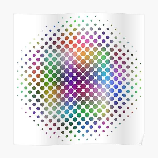Radial Dot Gradient Poster