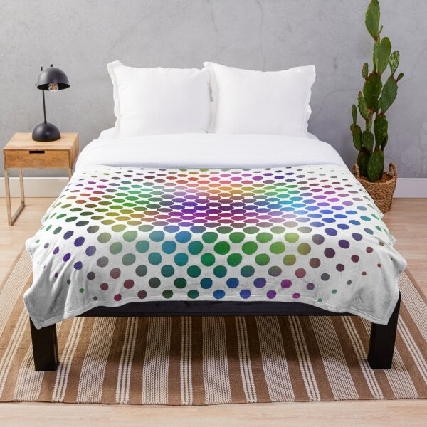 Radial Dot Gradient Throw Blanket