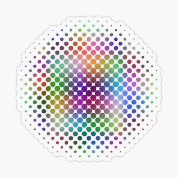 Radial Dot Gradient Transparent Sticker