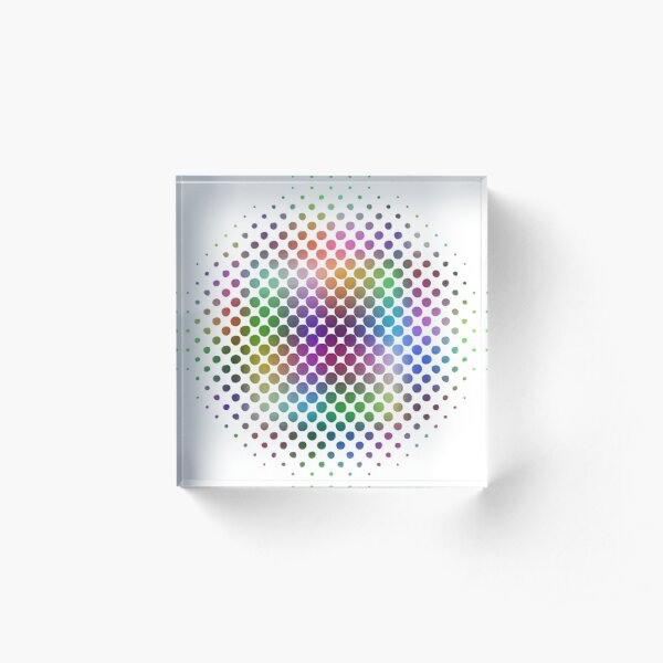 Radial Dot Gradient Acrylic Block
