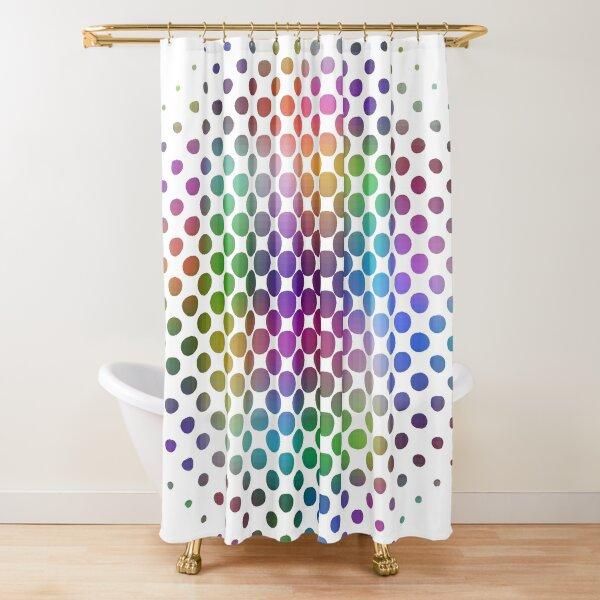 Radial Dot Gradient Shower Curtain